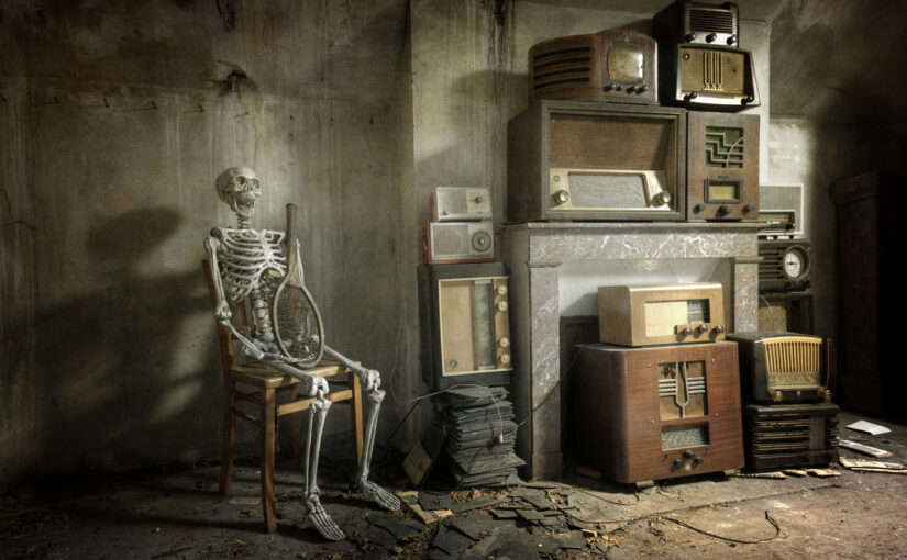 Having compassion for the skeleton on the room